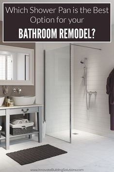 Which shower pan option is the best option for your bathroom remodel? Check out this NEW article! Bathroom Tub Shower, Mold In Bathroom, Small Bathroom, Bathroom Ideas, Bathrooms, Stone Bathroom, White Bathroom, Bathroom Storage, Master Bathroom