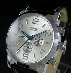 23.00$  Watch here - http://aligbl.shopchina.info/go.php?t=302985549 - Swiss Automatic Mechanical 6 Hands Leather Mens Watch freeship cool  #magazineonlinewebsite