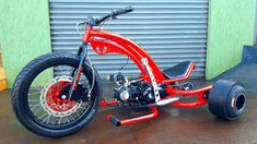 Drift Trike Kit, Bike Drift, Drift Trike Frame, Drift Trike Motorized, Trike Bicycle, Chopper Motorcycle, Motorcycle Design, Bicycle Design, Build A Go Kart