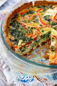 Veggie-Packed Paleo Quiche (gluten-free, grain-free, dairy-free, paleo)