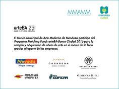 """MMAMM en participa en  participar del prestigioso programa """"Matching Funds arteBA-Banco Ciudad 2016"""" para la compra y adquisición de obras de arte en el marco de la feria."""