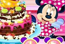 Minnie Mouse Çikolatalı Pasta