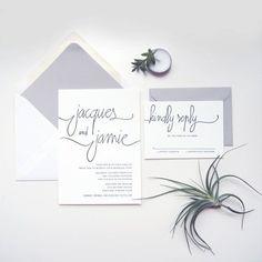 Elegant Wedding Invitations #weddinginvitation