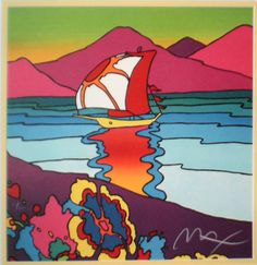 ☮ American Hippie Psychedelic Art ~ Peter Max .. Sunset Sail