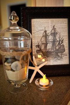 "Photo 8 of 14: Nautical / vintage ships / Dinner Party ""65th birthday dinner party "" 