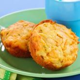 Corn, Cheese & Zucchini Muffins, perfect for the lunch box or toddler lunch. Easy recipe too!!