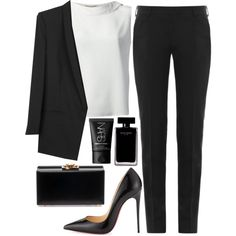 "MINIMAL + CLASSIC: day to night minimalist attire: ""Untitled #749"" by victoriaxo97"
