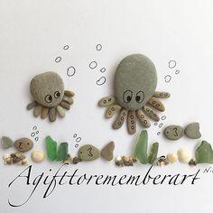 """Little Octopus"" here's a little underwater fun artwork from my kids collection. #agifttorememberart #pebbeart #instaartist #etsy #etsyseller #octopus #underwater #fish #kids #kidsroom #roomdecor #australia #baby #babyroom #sea #makersgonnamake #madebyme #cute #mumandbaby #art #handmade #unique #gift #giftideas #beachdecor #stones #animals #handmadeart"