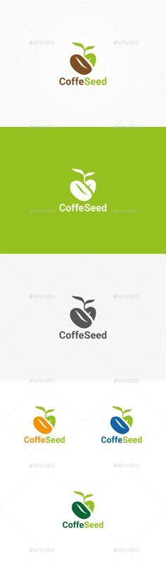 Coffee Seed - Logo Design Template Vector #logotype Download it here: http://graphicriver.net/item/coffee-seed-logo/10536198?s_rank=1200?ref=nexion