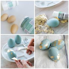 hoppy easter How to Make Gold Foil Eggs Eggs Gold Foil Eggs - Finding Silver Pennies Easter Puzzles, Diy Osterschmuck, Easter Egg Crafts, Diy Easter Decorations, Diy Ostern, Easter Parade, Coloring Easter Eggs, Easter Activities, Hoppy Easter