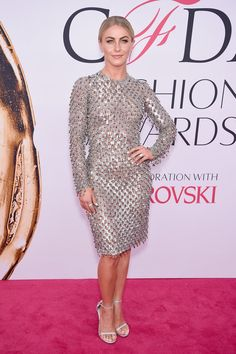 Pin for Later: The Fashion Crowd Goes All Out For the CFDA Awards Red Carpet Julianne Hough Wearing Michael Kors Collection.
