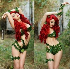 Poison ivy cosplay {Dr. Pamela Lillian Isley} by Supermaryface