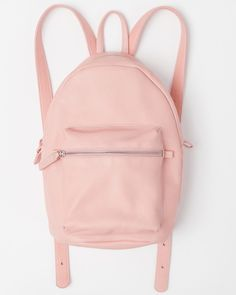 Leather Backpack - Pastel