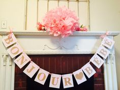 Bonjour Bebe Banner Parisian Baby Shower By Anyoccasionbanners