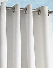 "Commonwealth Gazebo Outdoor Curtain Panel in White Sold by the Panel Available in 84"", 96"" and 108"" Lengths 1"" Side Hem / 3"" Bottom Hem"