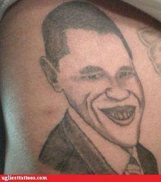 funny tattoos - President Joker