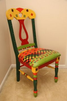 Beau Love The Colors  Wood Art Expressions Chair