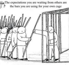 It would be easy to blame others for our cages. The truth is that we're responsible for ourselves. Yes, their expectations are hard to ignore, but we've taken these and used them to define our lives. Wisdom Quotes, Words Quotes, Life Quotes, Sayings, Positive Quotes, Motivational Quotes, Inspirational Quotes, Meaningful Pictures, A Silent Voice