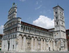 San Michele Lucca - Arquitectura románica en Italia - Wikipedia, la enciclopedia libre
