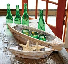 nautical-accessories-Set Of 2 Wood Boats