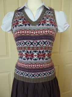 Free 1940's Knitting Pattern - Womens Fair Isle Pullover