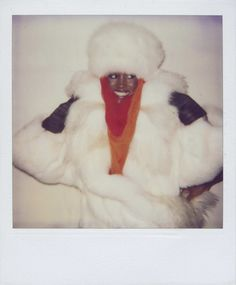 Polaroid portrait of model, singer, and actor Grace Jones, New York City, New York, United States, 1984, photograph by Andy Warhol.