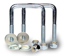 TowZone 86826 Zinc Plated Square U-Bolt - Pair by TowZone. $10.86. TowZone zinc plated U-bolts are used for mounting brackets to a trailer frame. Includes flat washers and nyloc nuts.