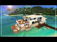 Sims 4 Speedbuild | Island Luxury Superyacht - YouTube Sims 4 Build, Cruise, Boat, Island, Luxury, Building, Youtube, Cruises, Dinghy