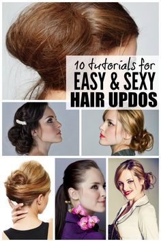 Whether you're going to a wedding, planning a night out with the girls, or just want to feel good about yourself while you're sitting in the carpool lane, these tutorials for easy, sexy hair updos are just what you need to make yourself look (and feel!) glamorous!