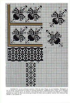 *etnobiblioteca*: Culegere de cusături populare de Leogadia Ștefănucă Embroidery Sampler, Folk Embroidery, Cross Stitch Embroidery, Embroidery Patterns, Cross Stitch Patterns, Simple Cross Stitch, Craft Patterns, Folk Art, Tapestry