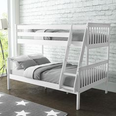 Simply Versatile - This OXFORD Triple Bunk sleeps 3 and can be split into a single and double bed for when the kids outgrow the bunk. Available in White, Dark Grey, Light Grey and Pine. Safe Bunk Beds, Toddler Bunk Beds, Bunk Beds With Storage, Wood Bunk Beds, Bunk Beds With Stairs, Kid Beds, Beds Uk, Memory Foam, Single Bunk Bed
