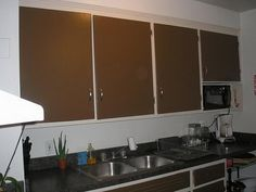 Brown Painted Kitchen Cabinets painting kitchen cabinets white color with black border painting