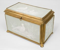 French Victorian accessories box porcelain