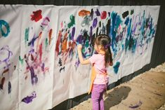 kids paint party ideas - cut pieces from canvas to send as thank yous