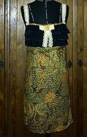 ANDRE VASSELLE batik dress with lace