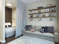 Bedroom Design Apartment Small Curtains 39 Ideas For 2019 Apartment Room, Home, Bedroom Design, Studio Apartment Decorating, Apartment Living Room, Apartment Design, Small Apartment Interior, Apartment Decor, Apartment Interior