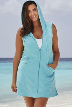swimsuitsforall Seamint Terry Zip Hoodie