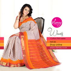 Vismay Cotton Print Saree Collections http://www.vismay.co.in/ShopDetail.aspx?SID=6736&utm_source=Facebook&utm_medium=FBWC&utm_campaign=ImpressAds