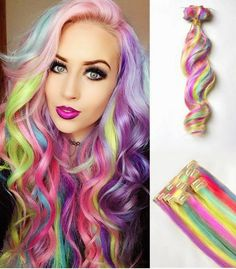 Dhermo Bela: Mega Hair cabelos coloridos