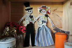 Le blog de Gabrielle Aznar: Paper Doll Catrinas ♦ DIY Halloween