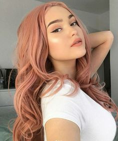 Top 14 Unique Hair Color Frames for Girls to Look Terrific in 2020 Hair Color Pink, Pink Hair, Unique Hair Color, Spring Hairstyles, Unique Hairstyles, Brown Blonde Hair, Bright Hair, Aesthetic Hair, Hair Trends