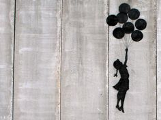 Banksy Canvas Art MOUNTED  Balloon Girl West Bank by CanvasChampUS