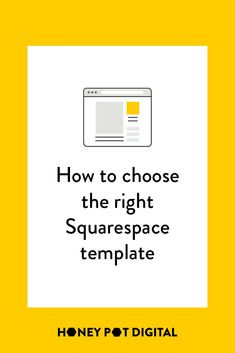 The first step in building your Squarespace website is to choose a template. To slice through that overwhelm and help you make a quick, yet educated decision, we've laid out how to choose your template, complete with a quiz to help you make that final dec Marketing Articles, Content Marketing, Choose The Right, First Step, Web Design, Social Media, Messages, Honey, Templates