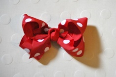 Minnie Mouse Inspired Red and White Polka Dots by LambstarDesigns, $3.00