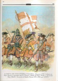Piechota angielska 1707