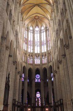 Beauvais Cathedral, Oise, Picardy, France. El afán de espiritualidad y de estructura diáfana alcanzo el límite de sus posibilidades constructivas.