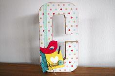 letras scrapbooking, craft, home decor.