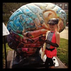 This cutie stopped off on the way to dance rehearsal to see a brain!
