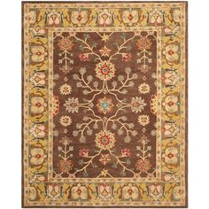 Safavieh Anatolia Brown/Gold 8 ft. x 10 ft. Area Rug - AN562A-8 - The Home Depot
