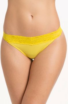 Brighten up your Day with Prettysecrets Yellow Lacy Thong  Price: Rs. 299